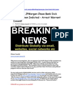 Jp Morgan Ceo Dick  Jamie Dimon is Issused&Indictied Arrest Warrant