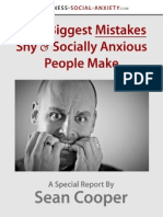 4 Mistakes Shyness Social Anxiety