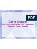 David Kissack Was Honored With Two SPOT Awards At Siemens Energy, Florida