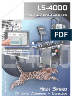 DIBAL - LS-4000 Automatic Weighing and Labelling Systems - Brochure