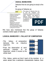 Fallacies Logical Maneuvers