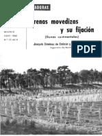 Arenas Movedizas y su Fijación (dunas continentales) 1960