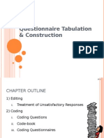 Questionnaire Coding & Tabulation