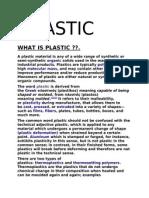 Plastic..