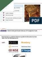 Shamik on Gold & ETF Presentation