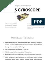 MEMS Gyroscope Ppt