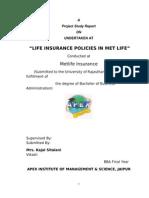 Report Met Life Insurance