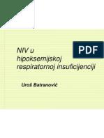 NIV u Hipoksemijskoj Respiratornoj Insuficijen