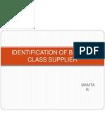 4 Identification of Best-In-class Supplier