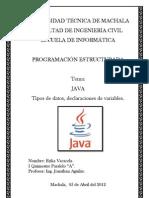 N°1 Java, Datos, declaraciones.