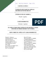U.S. v. Rodriguez (11th Cir. Reply Brief)