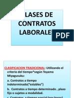 Clases de Contratos de Trabajo