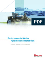 Water Analysis - Pesticides, Herbicides, Emerging Contaminants