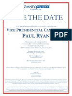 Invitation to Paul Ryan's October 24th Georgia fundraiser