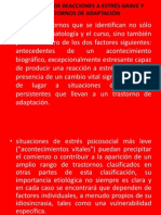 TRASTORNOS DE REACCIONES A ESTRÉS GRAVE Y TRASTORNOS