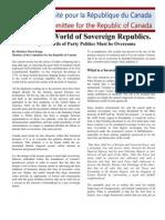 Towards a World of Sovereign Republics
