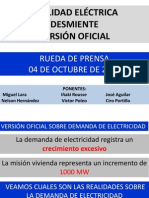 Rueda Prensa Sector Eléctrico Octubre 2012