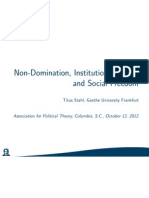 Non-Domination, Institutional Power, and Social Freedom