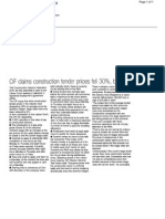 CIF claim construction tender prices fell 30% but wages only 5% - Evening Echo 02.10.2012