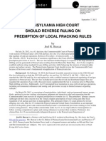 Pennsylvania High Court Should Reverse Ruling On Preemption Of Local Fracking Rules