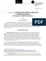 Mandated Biotech Food Labeling