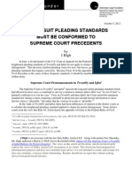 Patent Suit Pleading Standards Must Be Conformed To Supreme Court Precedents