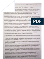 Raportul Comisiei Pentru Examinarea Cazului Deteriorarii Acoperisului LT Cojusna