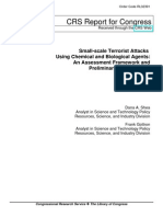 Small-Scale Terrorist Attacks Using Chemical and Biological Agents- An Assessment Framework and Preliminary Comparisons