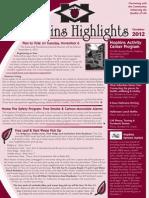 Hopkins Highlights-October 2012