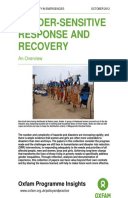 Gender Sensitive Response and Recovery: An Overview