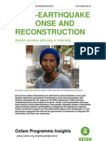 Post-Earthquake Response and Reconstruction