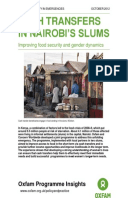 Cash Transfers in Nairobi's Slums: Improving food security and gender dynamics