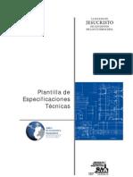 Plantilla ESPECIFICACIONES Tecnicas