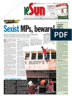 TheSun 2009-01-16 Page01 Sexist MPs Beware