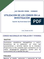 Los Censos Nacionales y Su Utilizacion en La Investigacion Estadistica