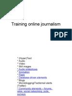 Training Online Journalism