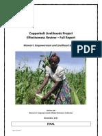 Copperbelt Livelihoods Project - Effectiveness Review