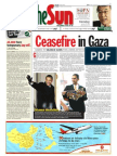Thesun 2009-01-19 Page01 Ceasefire in Gaza