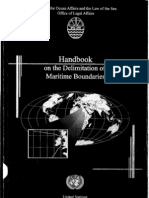 Handbook on the Delimitation of Maritime Boundaries