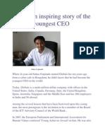 ലോകത്തിലെ ഏറ്റവും പ്രായം കുറഞ്ഞ  CEO