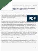 Securing FPGA bIt Stream