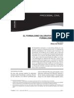 Carlos Alberto Alvaro de Oliveira - El formalismo-valorativo Frente al formalismo excesivo