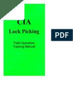 CIA-Lock Picking Field Operative Training Manual