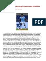 TB Joshua's teenage prodigy Ogenyi Onazi SHINES for Lazio!