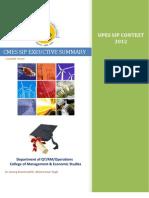UPES SIP Executive Summary 2013 by Vijai Kumar Baskaran