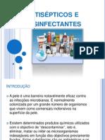 Antisépticos e desinfectantes