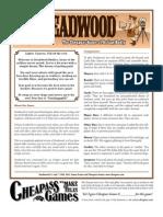 Deadwood Rules PDF