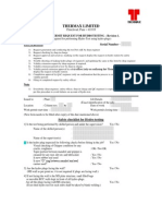 Work Permit Request for Hydrotesting