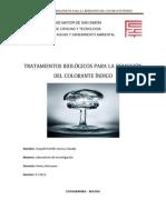 TRATAMIENTOS BIOLÓGICOS PARA LA REMOCIÓN DEL COLORANTE ÍNDIGO