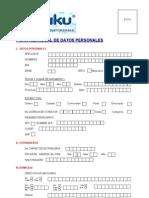 Ficha de Datos Del Personal Yaku